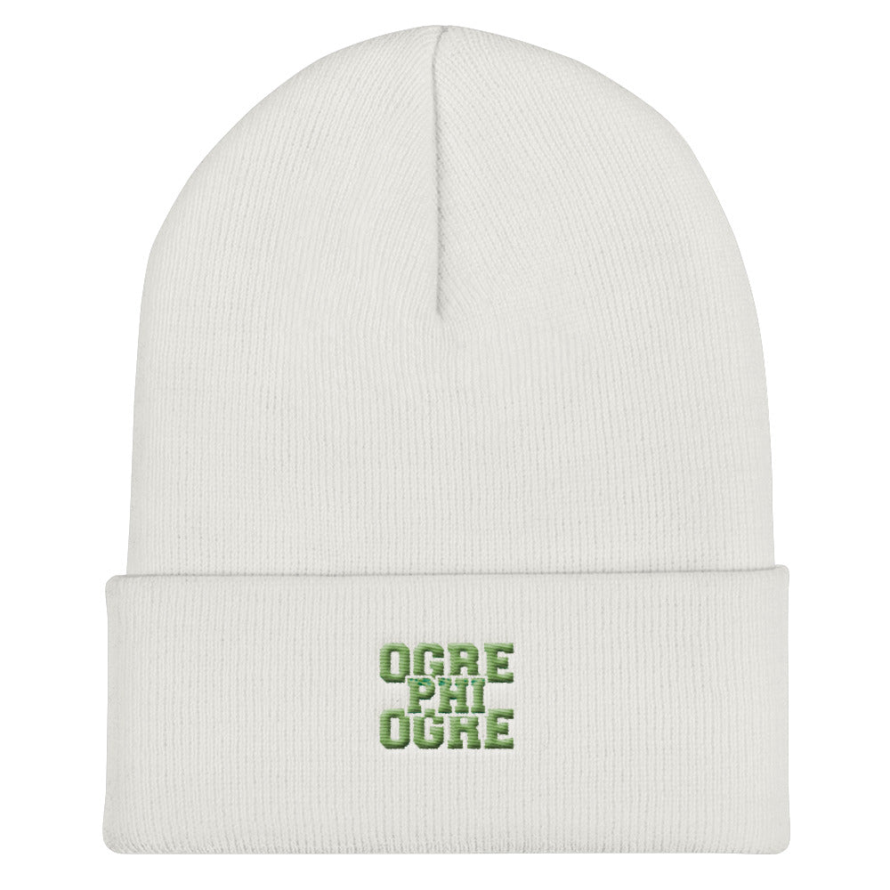 Ogre Phi Ogre | Hampton University | Cuffed Beanie - We Wear Our HBCUs