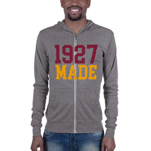 1927 Made Texas Southern Unisex Lightweight Zip Up Hoodie - men size up - We Wear Our HBCUs