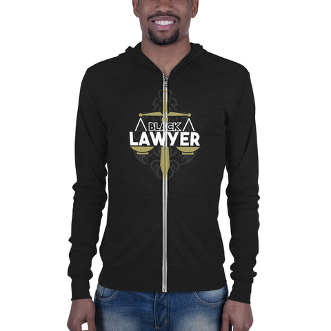 Black Lawyer  Black Attorney Unisex zip hoodie - men size up - We Wear Our HBCUs