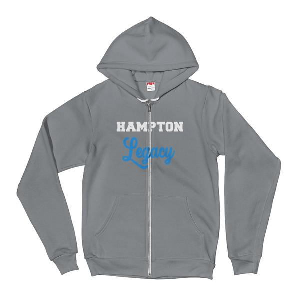 Hampton University Hampton Legacy Unisex Sporty American Apparel Hoodie With Kangaroo Pockets - We Wear Our HBCUs