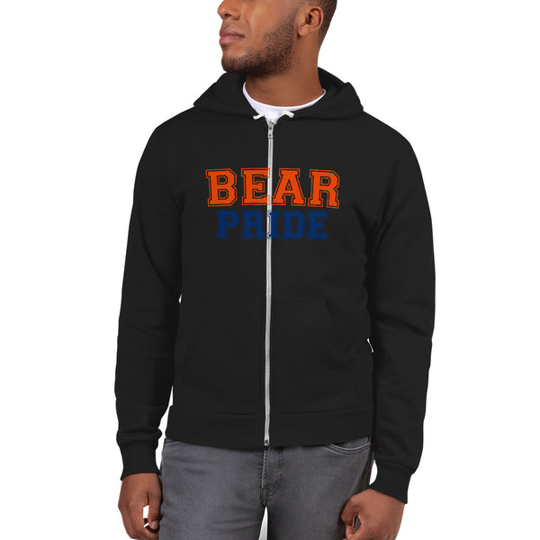 Morgan State University Bear Pride Unisex Zip-Up Fleece Hoodie - We Wear Our HBCUs