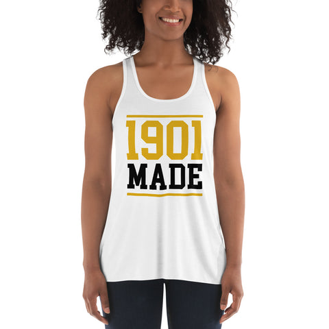 1901 MADE Grambling State University Women's Flowy Racerback Tank - We Wear Our HBCUs