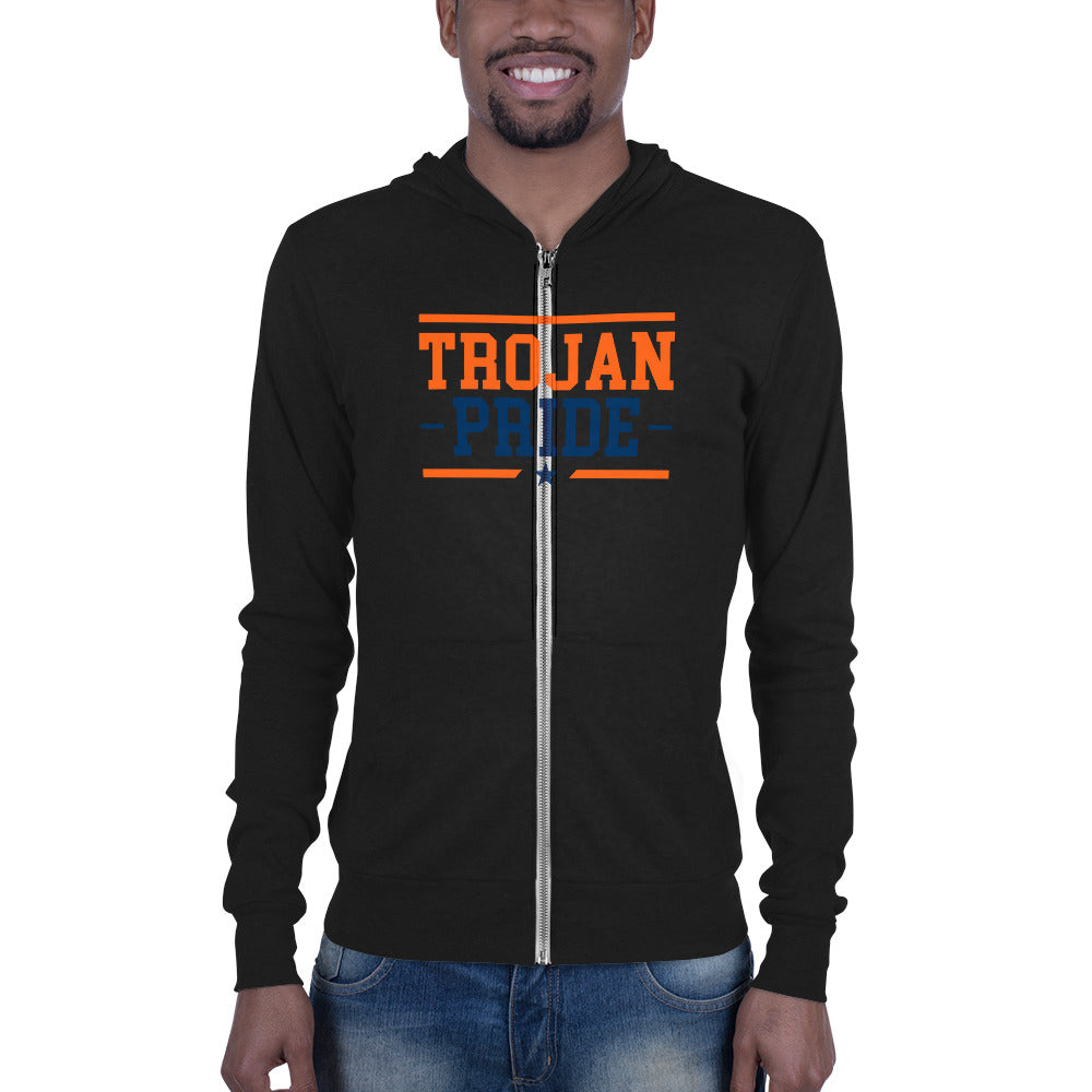Viriginia State University Trojan Pride Unisex Zip Hoodie - We Wear Our HBCUs