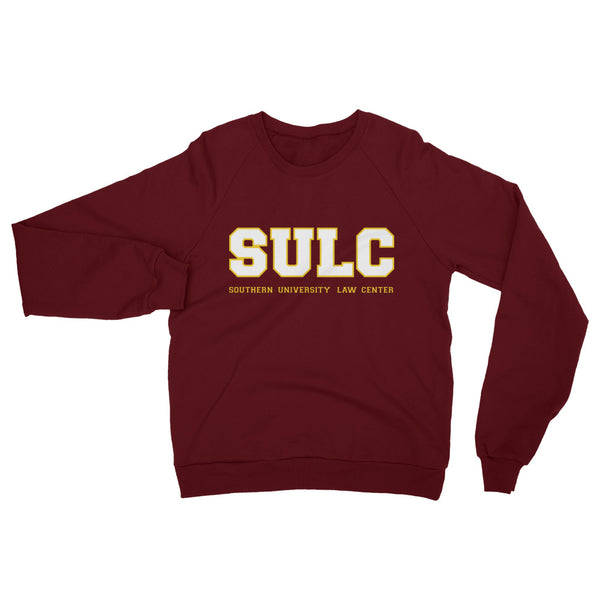 SULC  Southern University Law Center Classic Unisex California Fleece Raglan Sweatshirt - We Wear Our HBCUs