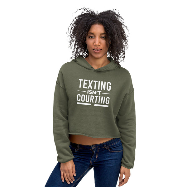 Texting Isn't Courting Women's Crop Hoodie - We Wear Our HBCUs