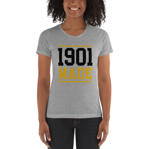 1901 MADE Grambling State University Women's Boyfriend Tee - We Wear Our HBCUs