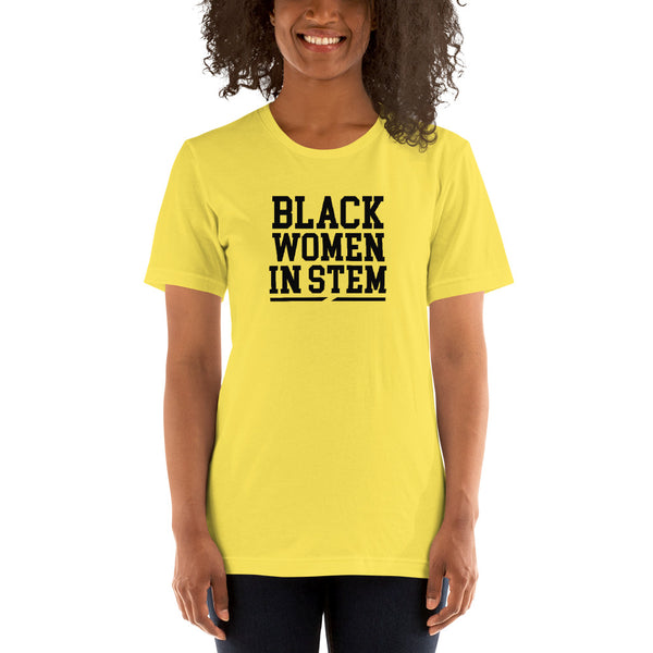 Black Women in Stem Short-Sleeve Women's T-Shirt - We Wear Our HBCUs