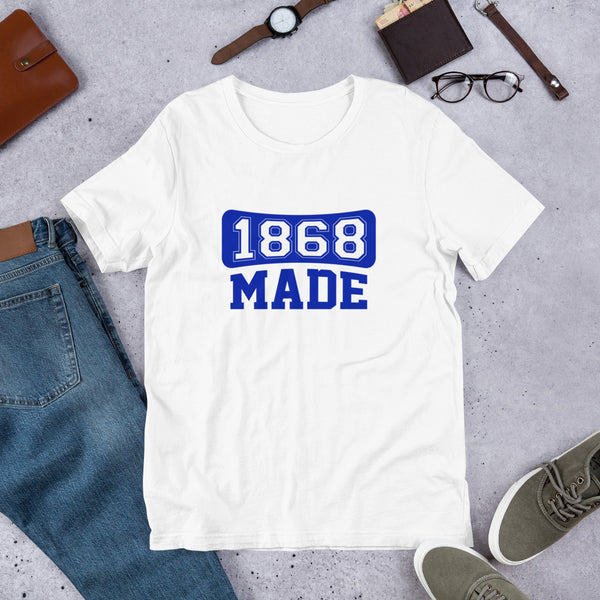 Hampton University 1868 made  Unisex basic T-Shirt - We Wear Our HBCUs