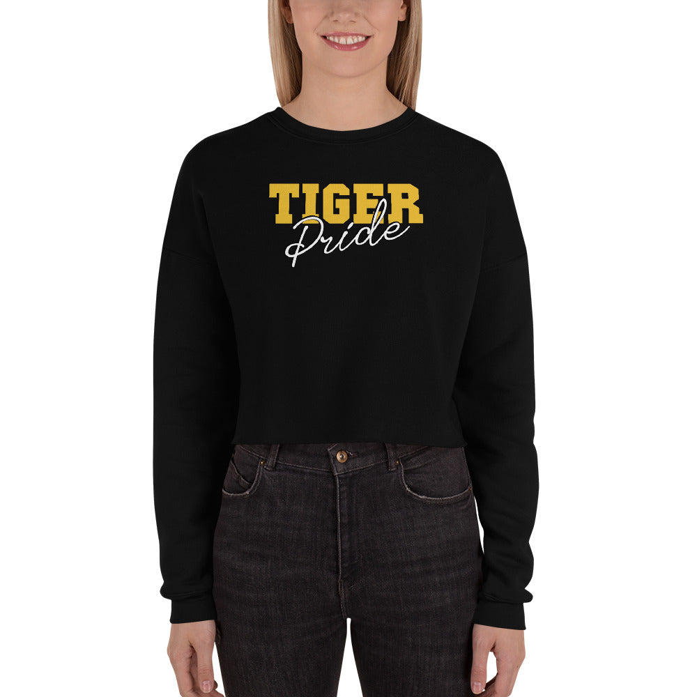Tiger Pride | Grambling State University | Crop Top Sweatshirt With Dropped Shoulder - We Wear Our HBCUs