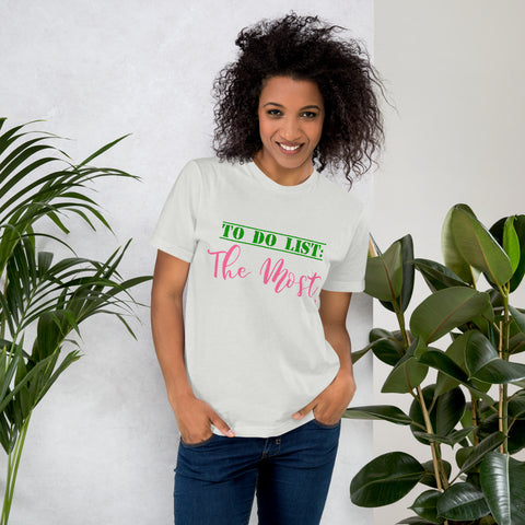 Alpha Kappa Alpha To Do List  Women's Jersey T-Shirt - We Wear Our HBCUs