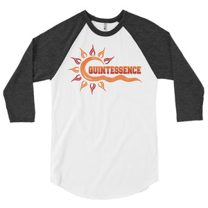 Quintessence Hampton University 3/4 Sleeve Raglan Baseball Shirt - We Wear Our HBCUs