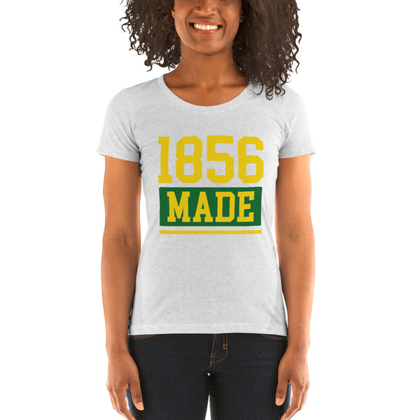 Wilberforce University 1856 Made Ladies' Soft Form Fitting T-shirt - We Wear Our HBCUs
