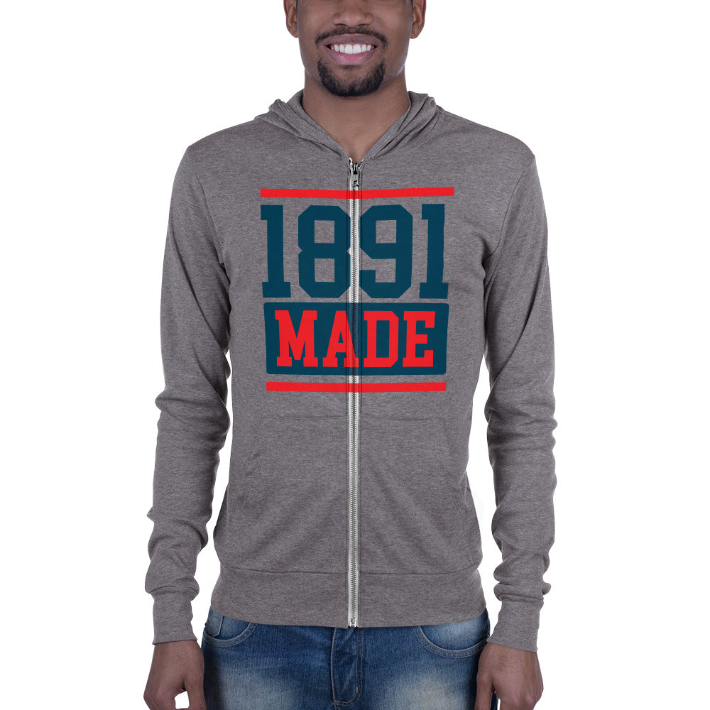 1891 Made Delaware State Unisex zip hoodie - We Wear Our HBCUs