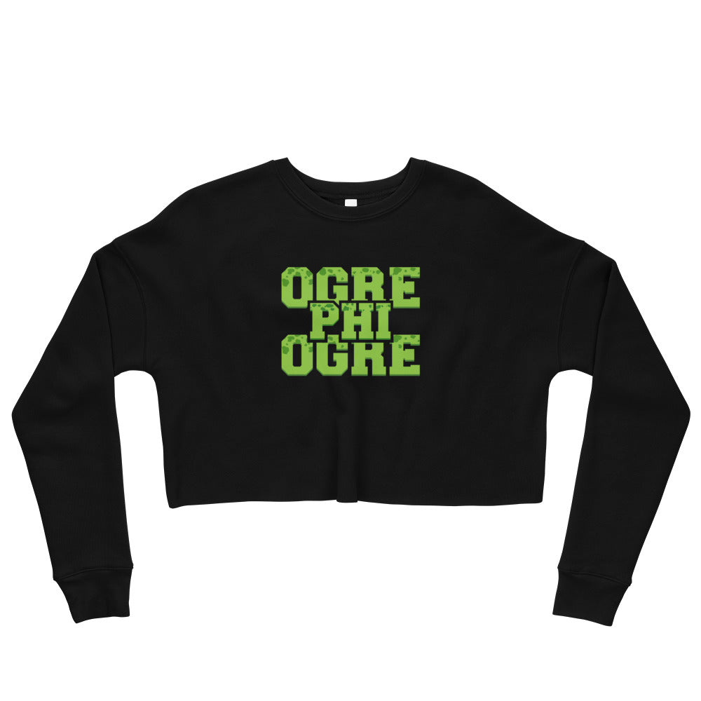Ogre Phi Ogre  Hampton University  Class Name Fall Fleece Crop Top Sweatshirt - We Wear Our HBCUs