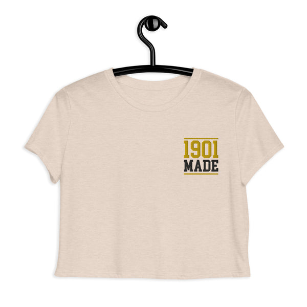 1901 MADE Grambling State University Crop Tee - We Wear Our HBCUs