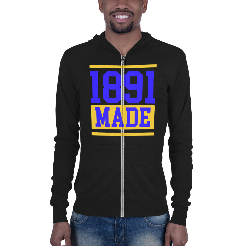 North Carolina A&T 1891 Made Unisex zip hoodie - We Wear Our HBCUs