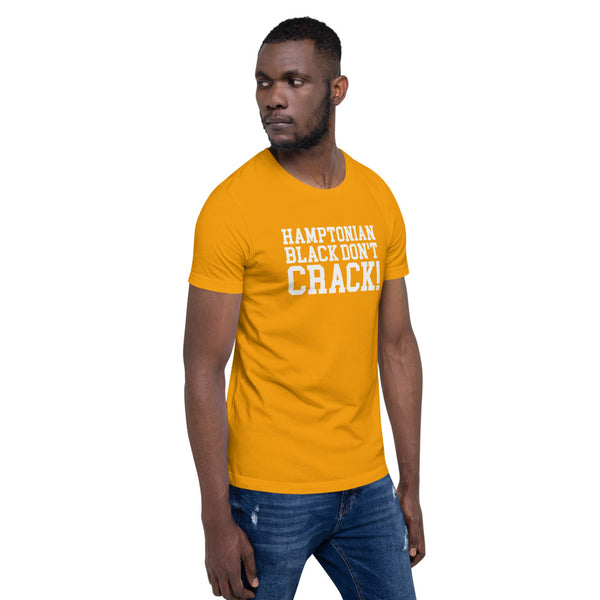 Hamptonian Black Don't Crack Short-Sleeve Men's T-Shirt - We Wear Our HBCUs