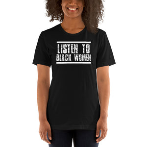 Listen To Black Women Basic T-Shirt up to 4XL