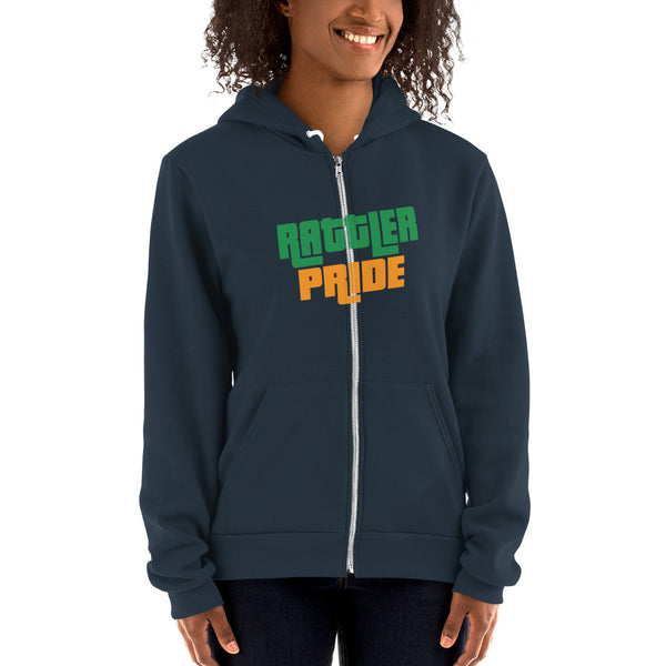 FAMU Rattler Pride Women's Zip Up Hoodie Sweater - We Wear Our HBCUs