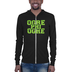 Ogre Phi Ogre Hampton University  Unisex zip hoodie - men size up - We Wear Our HBCUs