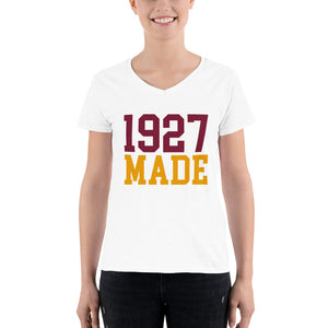 1927 Made Texas Southern Women's Semi-Fitted V-Neck Shirt - We Wear Our HBCUs