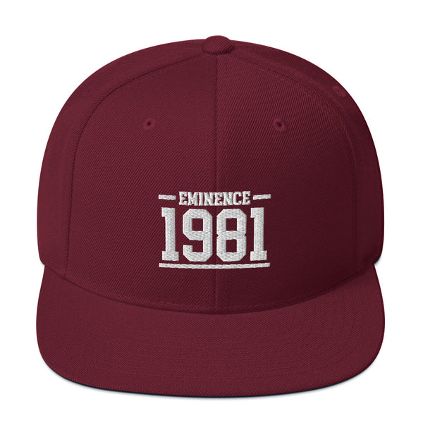 Hampton University Eminence 1981 Snapback Hat - We Wear Our HBCUs