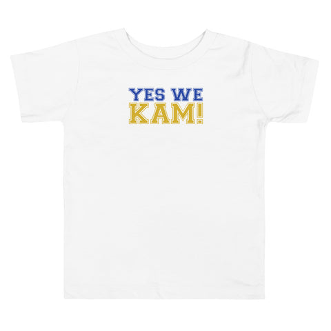 Yes We Kam Yellow and Blue Toddler Tee Upto 5T