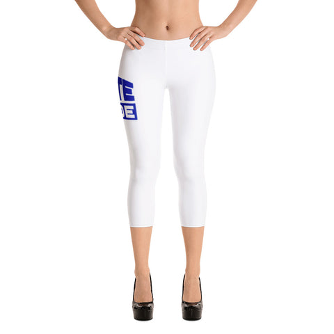 Pirate Pride | Hampton University | Stretchy Fashion Capri Leggings With Black Stitching - We Wear Our HBCUs