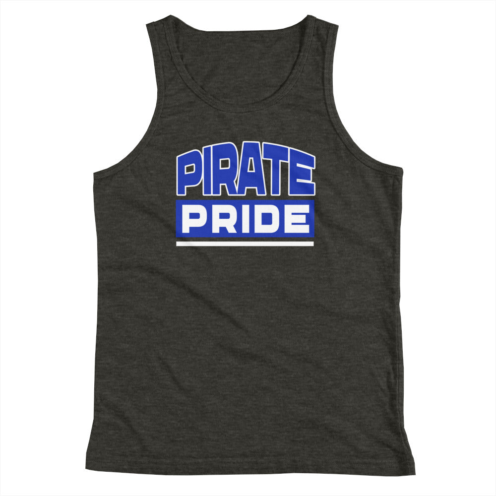 Hampton University | Pirate Pride | HU Youth Tank Top Blue and White - We Wear Our HBCUs