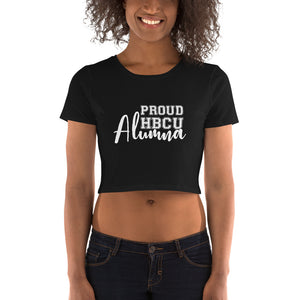 Proud HBCU Alumna Women's Crop Tee - We Wear Our HBCUs