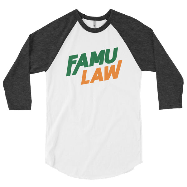 FAMU Law Short Sleeve 3/4 Sleeve Raglan Baseball Shirt - We Wear Our HBCUs