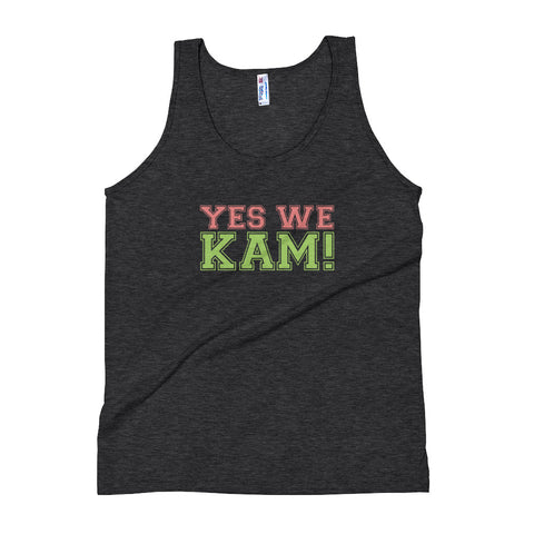 Yes We Kam Pink and Green Women's Tri-Blend Tank Top