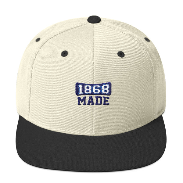 Hampton University 1868 Made Classic Snapback Hat - We Wear Our HBCUs