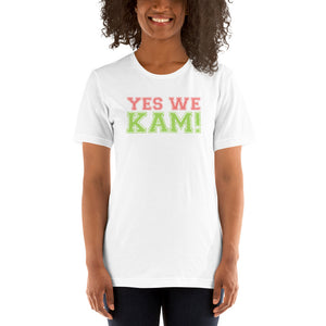 Yes We Kam Pink and Green  Basic T-Shirt up to 4XL