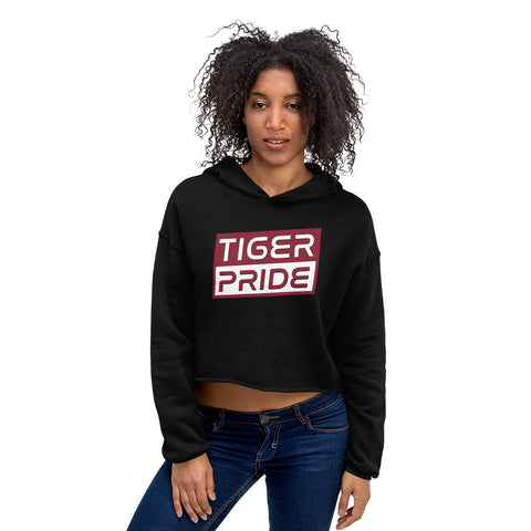 Texas Southern University  Tiger Pride  Crop Top Hoodie - We Wear Our HBCUs