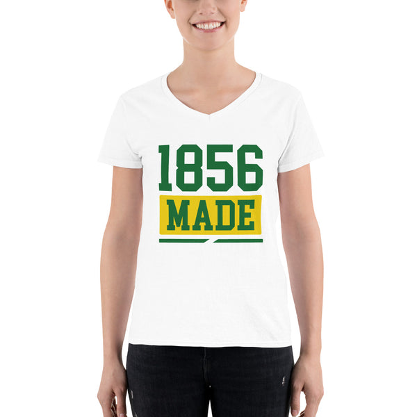 Wilberforce University 1856 Made Women's Semi-Fitted V-Neck Shirt - We Wear Our HBCUs