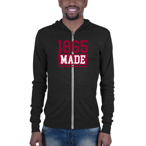 Virginia Union University 1865 Made Unisex Zip Hoodie - We Wear Our HBCUs
