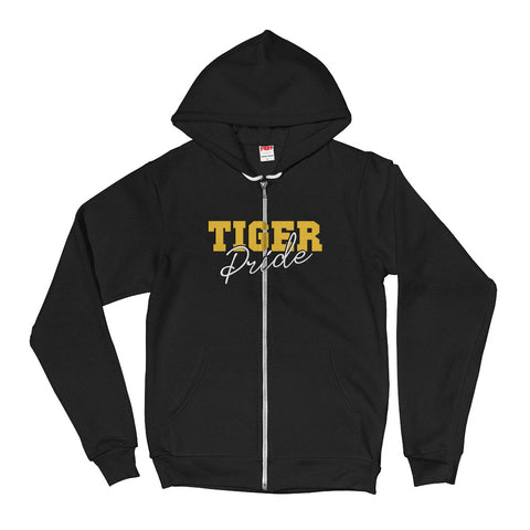 Tiger Pride Grambling State UniversityUnisex Sporty Zip Up Hoodie With A Soft Inside - We Wear Our HBCUs
