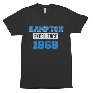 Hampton University Excellence 1868 Unisex Soft Short Sleeve Soft T-shirt - We Wear Our HBCUs