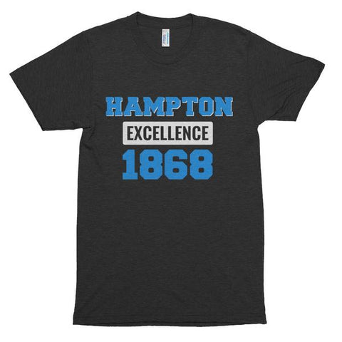 Hampton University Excellence 1868 Made Unisex Soft Short Sleeve Soft T-shirt - We Wear Our HBCUs