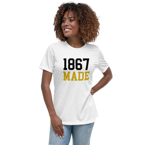 Alabama State University 1867 Made Women's Relaxed T-Shirt - We Wear Our HBCUs