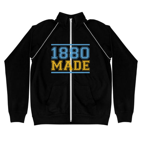 1880 Made Southern University A&M Piped Fleece Jacket - We Wear Our HBCUs