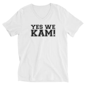 Yes We Kam Black Unisex V-Neck T-Shirt