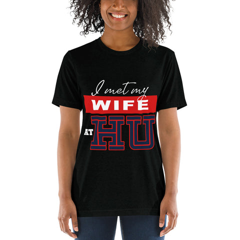 I Met My Wife At HU Howard University Short sleeve t-shirt - We Wear Our HBCUs