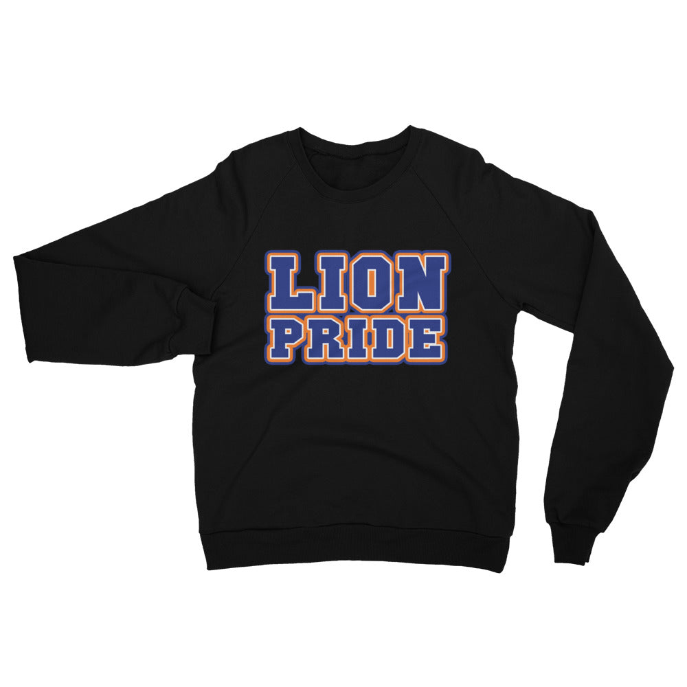 Lion Pride  Lincoln University  LU Unisex California Fleece Raglan Sweatshirt - We Wear Our HBCUs