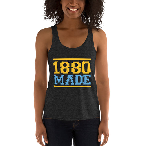 1880 Made Southern University A&M Women's Tri-Blend Racerback Tank - We Wear Our HBCUs