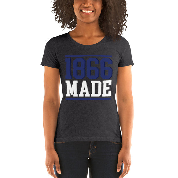 Lincoln University (MO) 1866 Made Ladies' Soft Form Fitting T-shirt - We Wear Our HBCUs