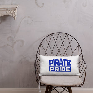 Hampton University | Pirate Pride | HU HBCU Blue and White Premium Pillow - We Wear Our HBCUs