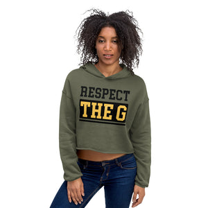 RESPECT THE G Grambling State University Crop Hoodie - We Wear Our HBCUs