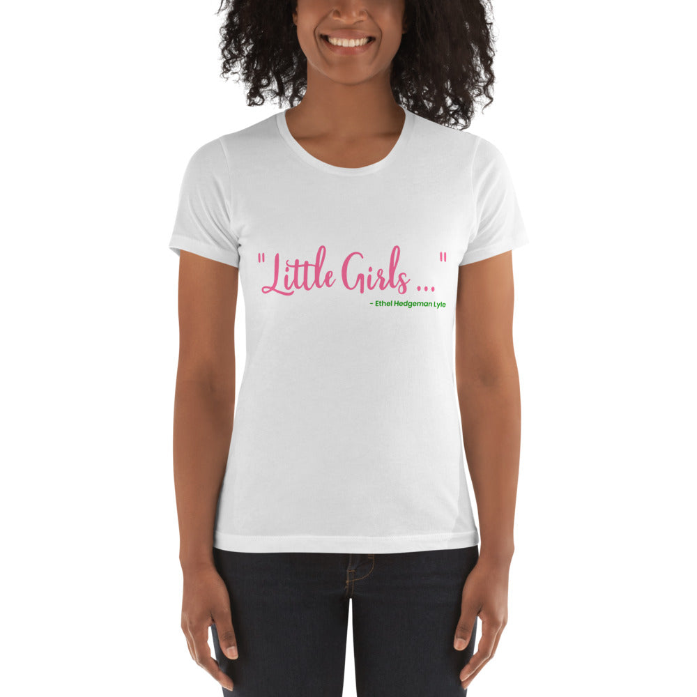 "Alpha Kappa Alpha ""Little Girls"" Ethel Hedgeman Lyle Women's Boyfriend Tee - We Wear Our HBCUs"